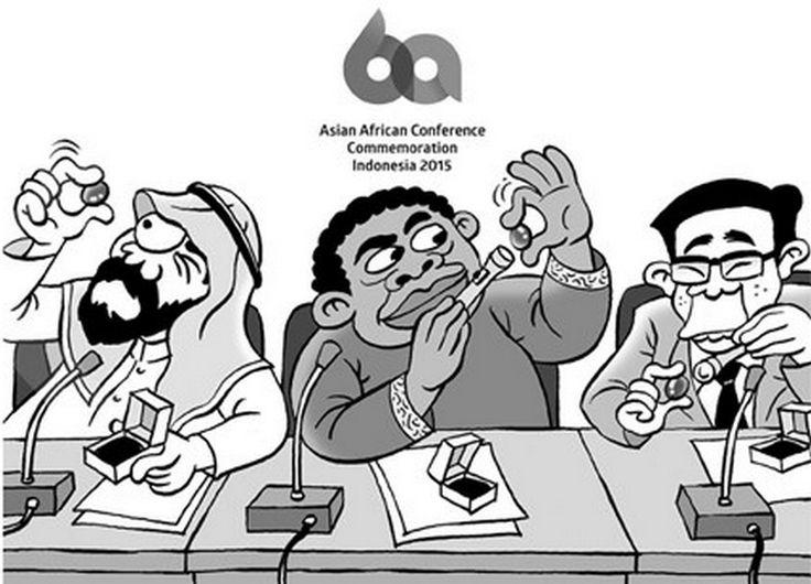 Kartun Benny, Kontan - April 2015: Peserta KAA Sibuk Dengan Souvenir Batu Akik