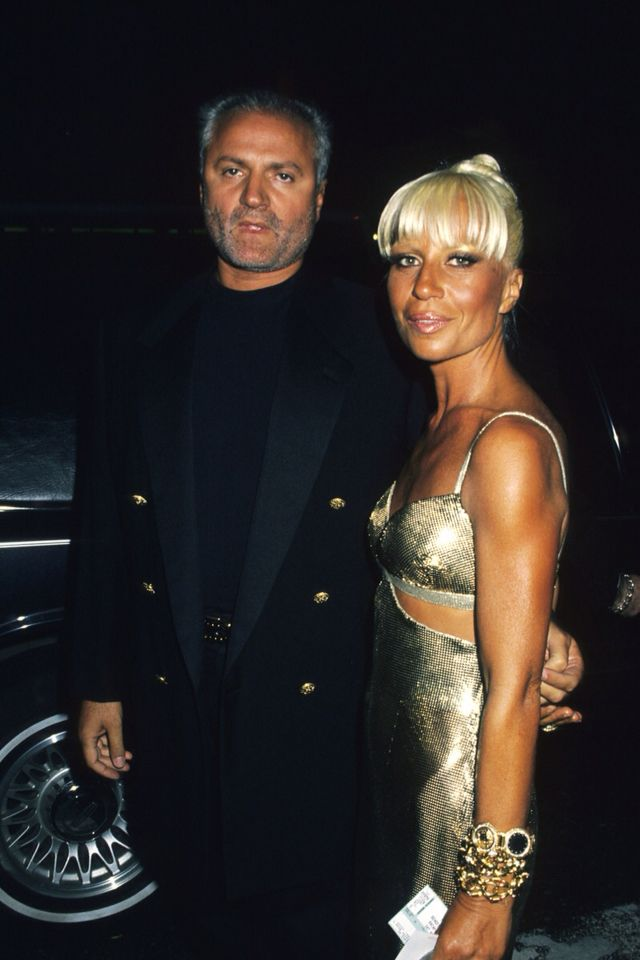 Donatella and Gi Versace