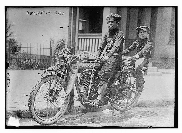 """Louis Van """"Bud"""" Abernathy (December 17, 1899 – March 6, 1979) and Temple Reeves """"Temp"""" Abernathy (March 25, 1904 – December 10, 1986) were children from Oklahoma who without adult supervision took several cross-country trips. On one trip they rode their motorcycle from Oklahoma to Manhattan in 1910 when they were 10 and 6 years old."""
