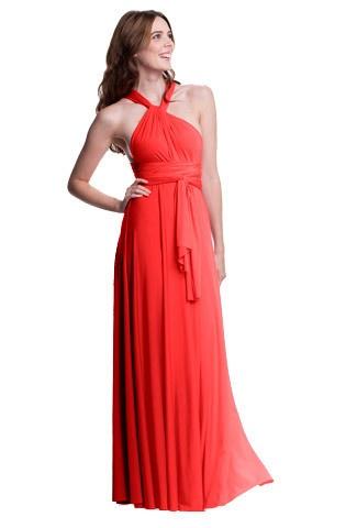 Sakura Maxi Convertible Dress - Burnt Orange