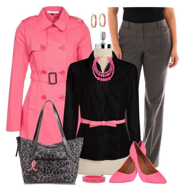 """Plus Size for Work in Pink"" by elise1114 ❤ liked on Polyvore"