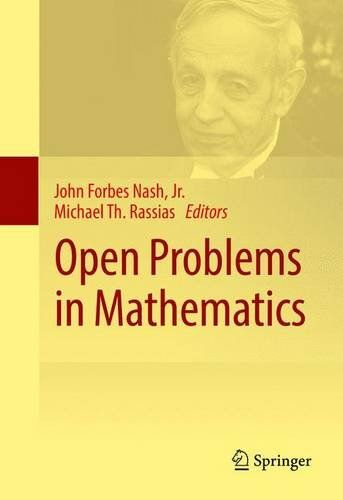 Open Problems in Mathematics by John Forbes Nash  Jr.