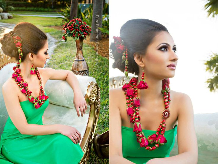 I Mehndi Flower Jewelry : Best fresh flower jewellery images