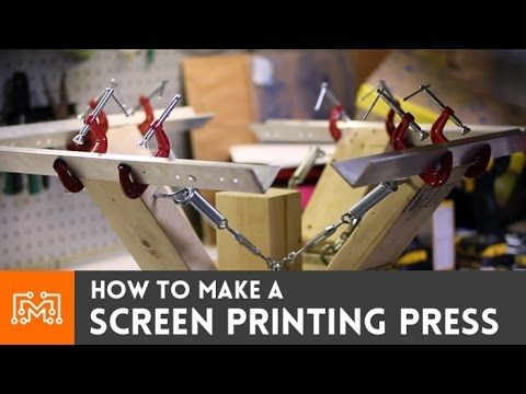 How to make a 4 color screen printing press - YouTube