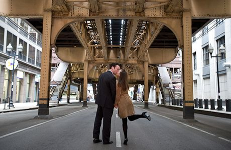 Engagement photo locations in Chicago.