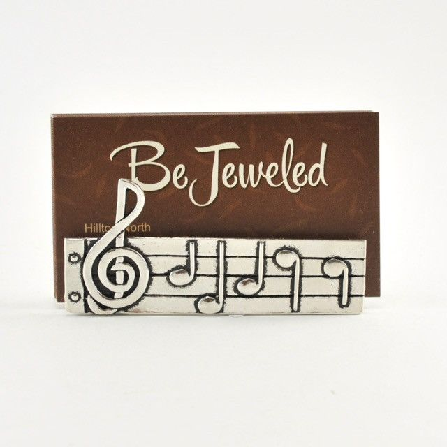 Music business card holder business card holders and products sku 3059 handcrafted pewter music business card holder 3 x 1 x reheart Gallery