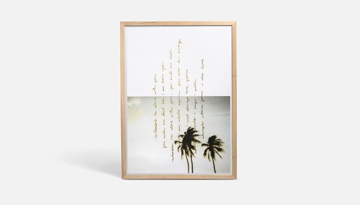Palms in Natural Frame