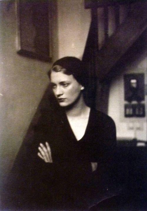 "labellefilleart: "" Lee Miller in Man Ray's studio, Man Ray """