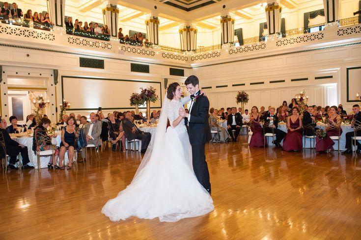 Elaina & Brian | Soldiers & Sailors Museum| Grand Ballroom | Pittsburgh Wedding | Fall Wedding | October Wedding | Rania's Catering | Goldstein Photography | Grey Phoenix Lighting | First Dance | Bride & Groom|