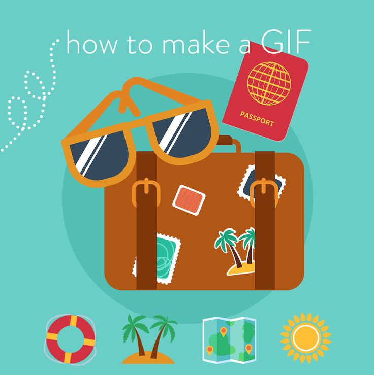 Two different tutorials with step-by-step directions for how to make a GIF.