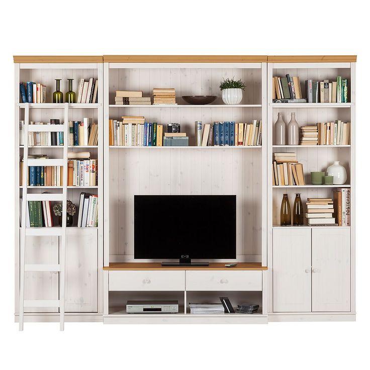 Die besten 25+ Tv möbel kiefer Ideen auf Pinterest Tv möbel - Wohnzimmermöbel Weiß Landhaus