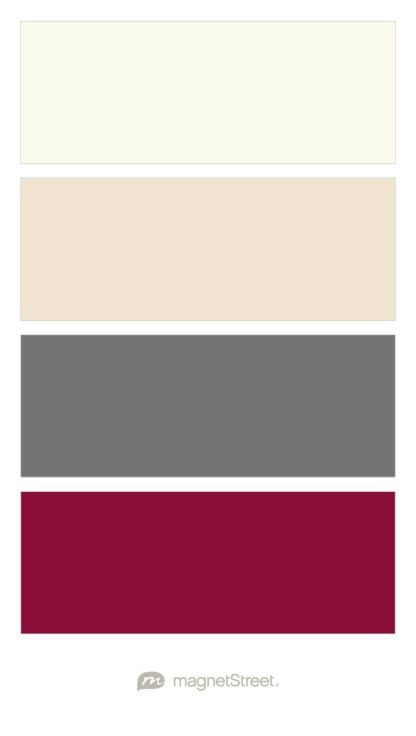 Ivory, Champagne, Charcoal, and Burgundy Wedding Color Palette - custom color palette created at MagnetStreet.com