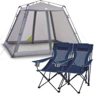 Ozark Trail 10' x 10' Instant Screen Canopy with 2 Chairs Value Bundle - $89.00! - http://www.pinchingyourpennies.com/ozark-trail-10-x-10-instant-screen-canopy-with-2-chairs-value-bundle-89-00/ #Pinchingyourpennies, #Tentbundle, #Walmart