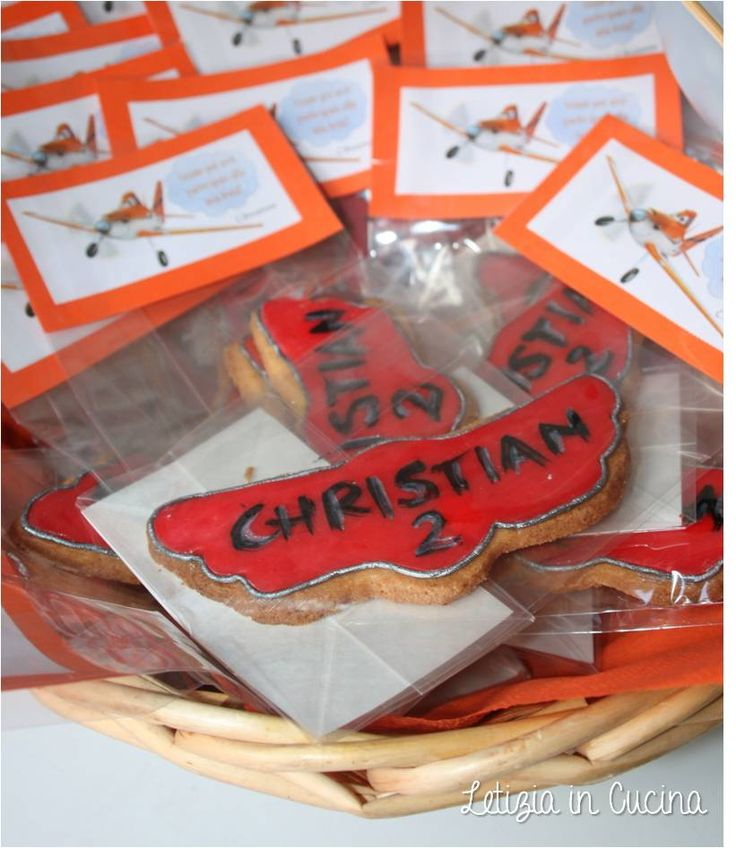 Biscotti Planes Dsney - Planes Birthday Party Favors