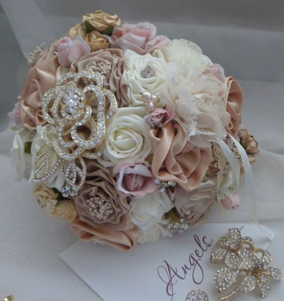 fabric wedding flowers best 25 fabric flower bouquets ideas on 3964