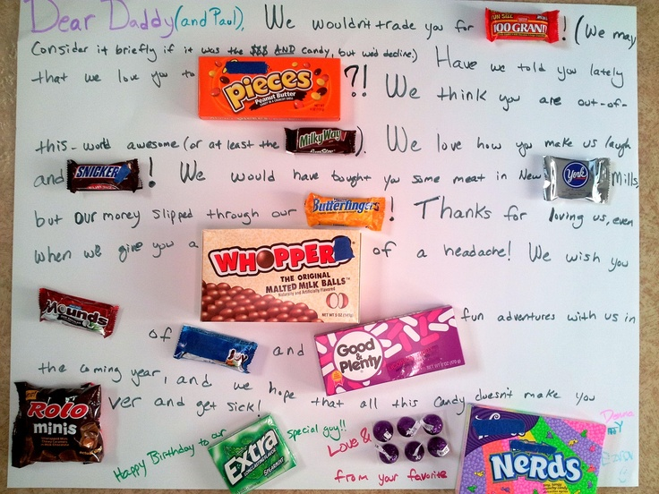 17 Best images about Birthday Candy Poster on Pinterest ...