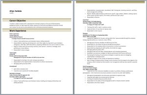 Download Store Incharge Resume Sample - Resume Templates | Resume Templates