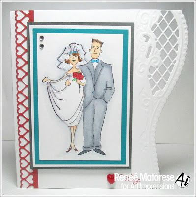 Art impressions rubber stamps bride and groom sku p3086 for Wedding dress rubber stamp