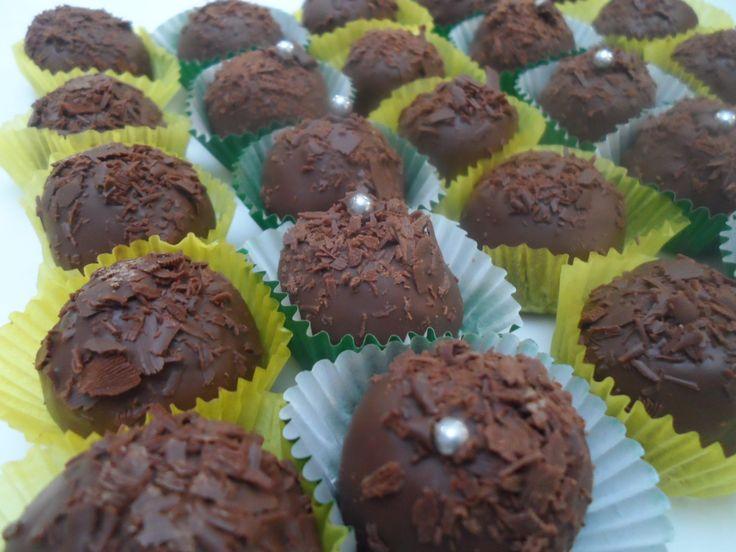 trufas de chocolate...delicioso!!!