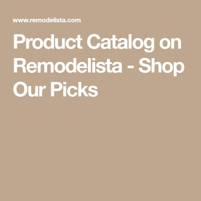 Product Catalog on Remodelista  Shop Our Picks