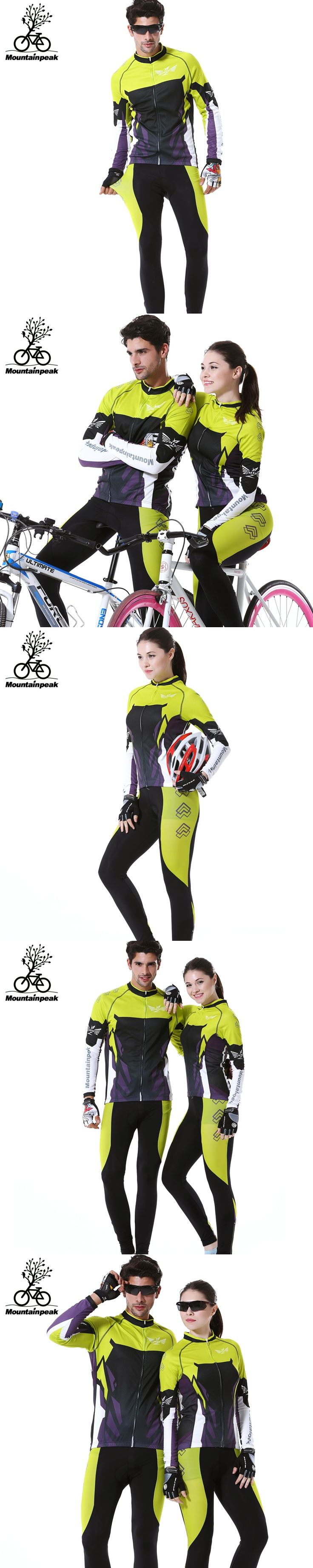 2016 New Arrival Autumn Men&Women Long Sleeve Cycling Jerseys Suits MTB Road Bike Riding Clothing Sports Jersey Coats Pants Sets