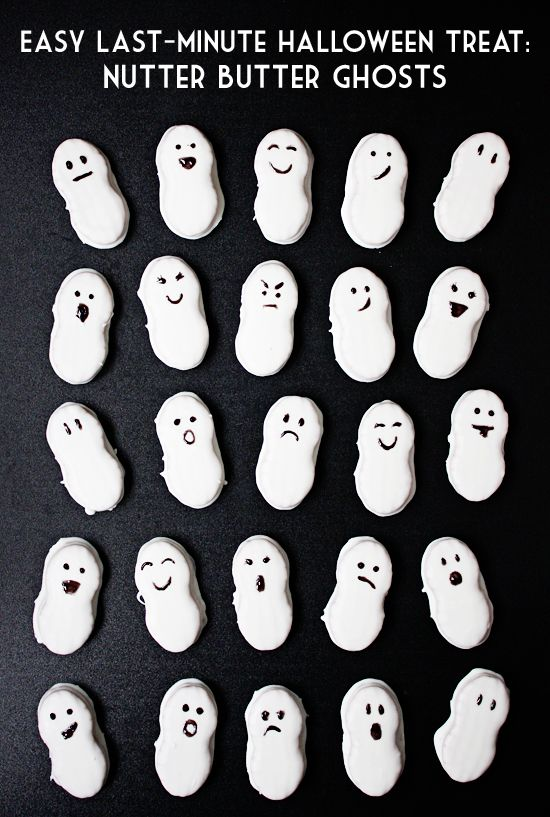 Looking for an easy, last-minute Halloween treat? These Nutter Butter ghosts require only four ingredients and can be ready in about 15 minutes!