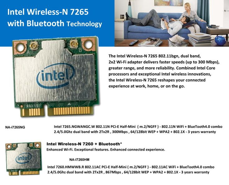 Intel Wireless-N 7265 with Bluetooth Technology