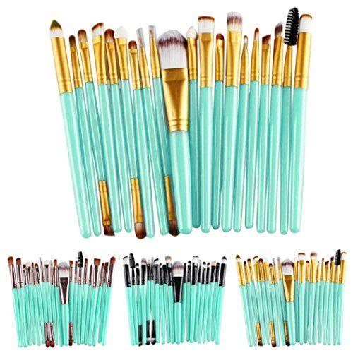 Cinidy 20 pcs Makeup Brush Set tools Make-up Toiletry Kit Wool Make Up Brush Set