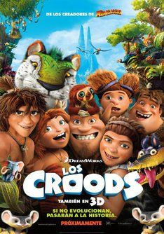 Los Croods. Comedia prehistórica de animación infantil