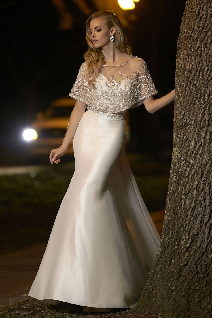 Yah but I'm pretty sure that is removable.... Simone Carvalli Bridal Style 90242A