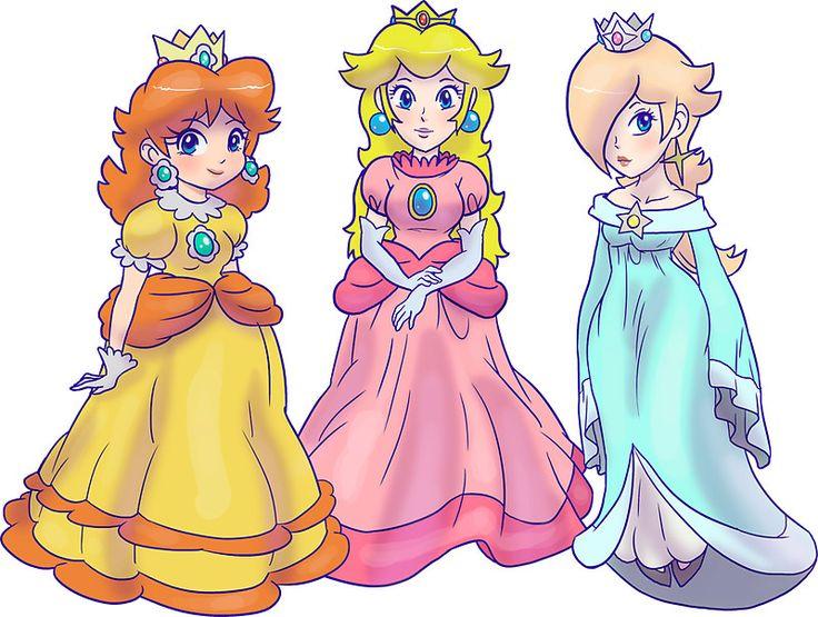 Rosalina zelda peach and daisy Princess