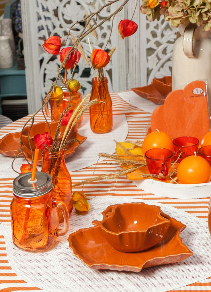 Beautiful leaf plates, magical for an autumn night !