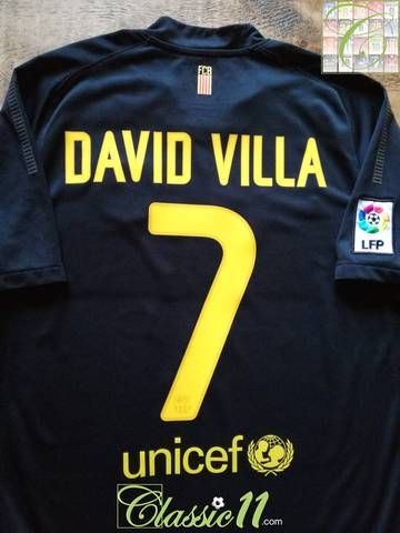 d64e4e291 Official Nike Barcelona away football shirt from the 2011/12 season.  Complete with David Villa #7 on the back of the shirt in official  lettering, ...