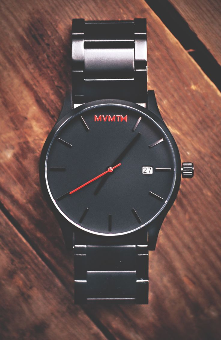 Black/Black Watches x MVMT Watches  Click image to purchase