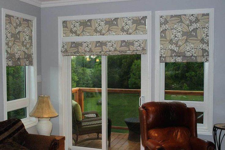 Image Result For Pictures Of Roman Shades On Sliding Glass