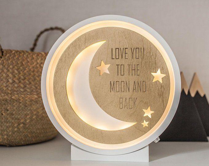 Half Moon Moon Lamp Moon Night Light Night Light Kids Etsy Night Light Kids Moon Nursery Night Light