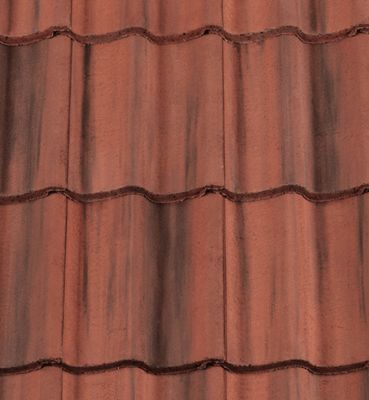 Low pitch Redland Grovebury roof tiles – Roofing Outlet. Farmhouse Red colour. Can be used down to 15°