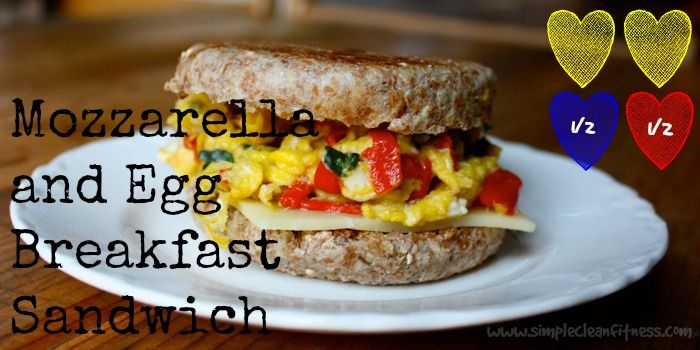 Mozzarella and Egg Breakfast Sandwich - 21 Day Fix Recipes - Clean Eating Recipes Breakfast recipes weight loss healthy eating recipes www.simplecleanfitness.com