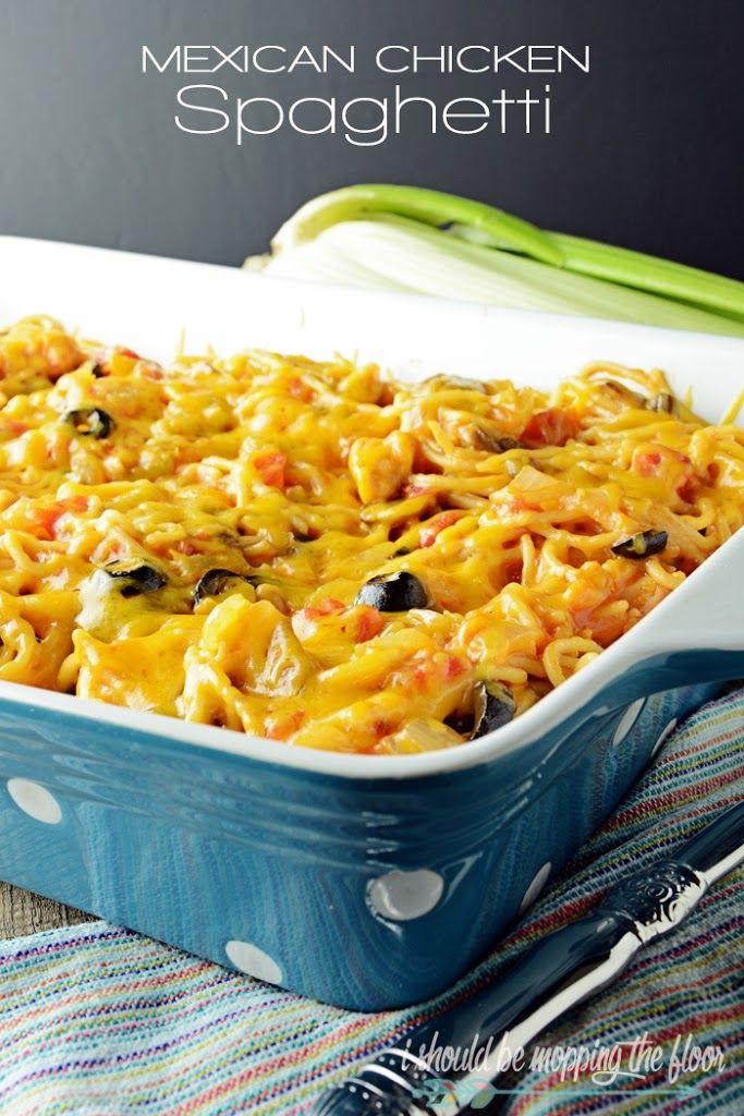 Mexican Chicken Spaghetti Recipe on Yummly. @yummly #recipe