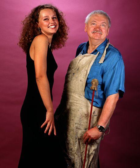 Jerzy Duda-Gracz z córką