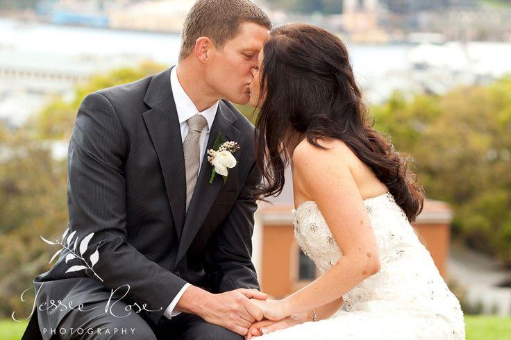 Ash & Rob @ Jessie Rose Photography #springwedding #wedding #photography #weddingphotography #jessierosephotography #bride #groom #sydney #kiss #australia #observatoryhill #springwedding #spring #kiss