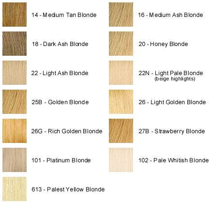 Different Shades Of Blonde We Do Our Best To Accurately