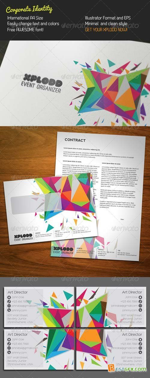GraphicRiver Color Explosion Stationery