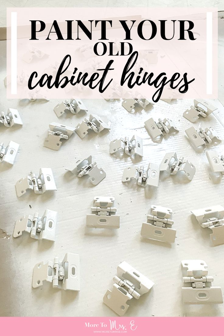 Paint and Reuse Old Cabinet Hinges   Hinges for cabinets ...