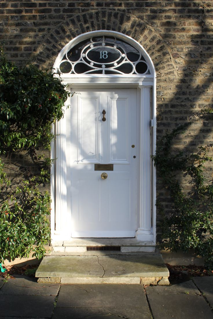 Georgian Front Door In North London Exterior White