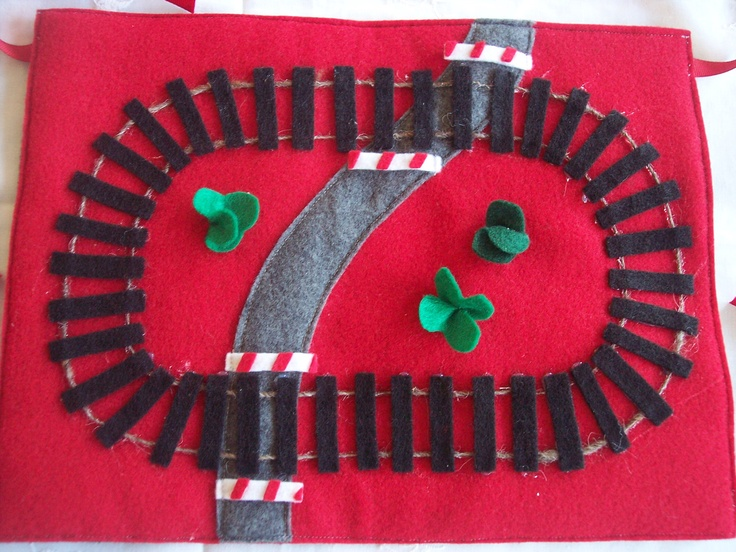 Quiet Play Felt Train Track with Metal Pull Back Train. $19.50, via Etsy.Train Tracks, Quiet Plays, Quiet Books, Plays Felt, Training Track, Metals Pulled, Felt Training, 1950, Plays Mats