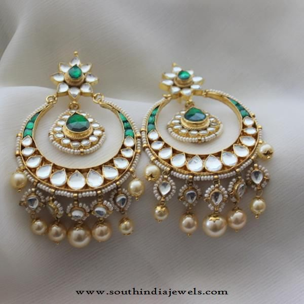 Indian Chandbali Designs, Indian Chandbali Earrings, Imitation Chandbali Earrings.