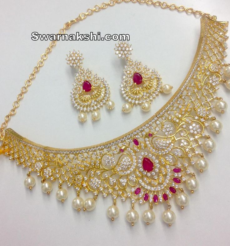 cz stone choker necklace Inbox us or whatsapp to 09581193795 to buy online  Or visit our showroom at LIG block no 11, F. No 9, 3rd Phase, KPHB, Kukatpally, Hyderabad  For more collections visit http://swarnakshi.com/product-category/necklace/chokers/