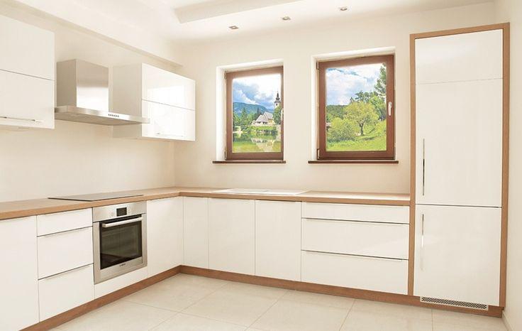 17 Best images about Kuchnia  biała drewno cegły on   -> Kuchnia Jasna Drewno