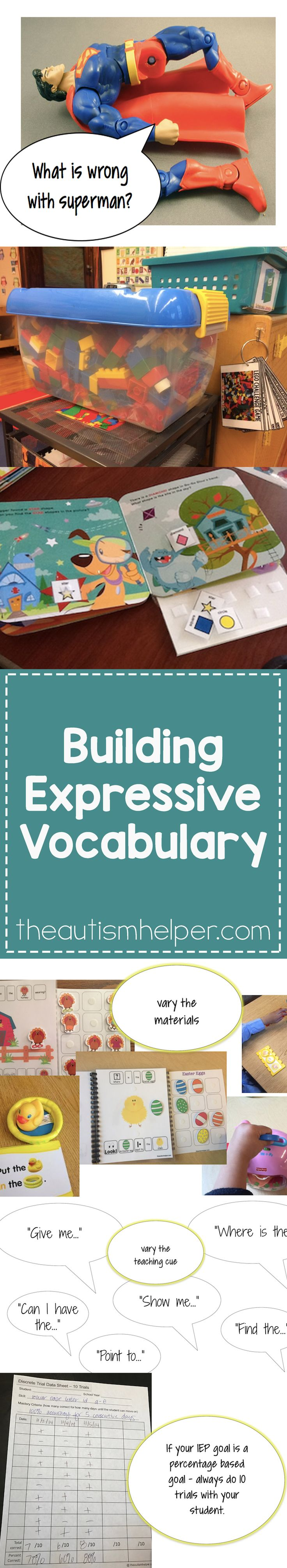 For kids that have emerging verbal skills, we want to get them talking as much as possible & help build expressive vocabulary. Find tips for successful direct instruction & incidental teaching programs on the blog!! From theautismhelper.com #theautismhelper